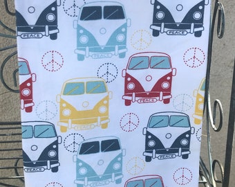Peace Love and VW Bugs Kitchen Towel