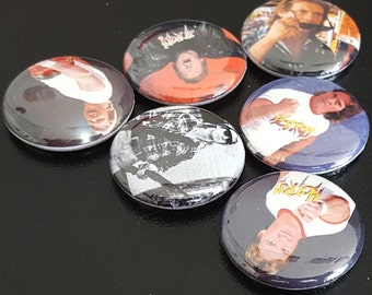 """6 Roddy Piper 1"""" Buttons/Pinbacks/Badges WWE WWF Wrestling WCW Rare Icon Obey They Live"""