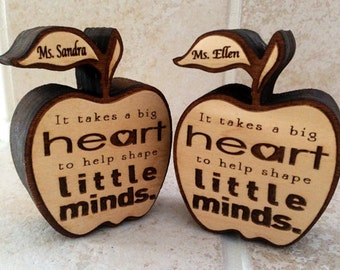 Teacher appreciation gift, wooden apple, best teacher, favorite teacher gift, wooden apple personalized, engraved gift