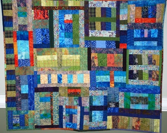 Multicolored Playful Quilted Wall Hanging