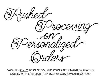 Rushed Processing for CUSTOM PRINTS