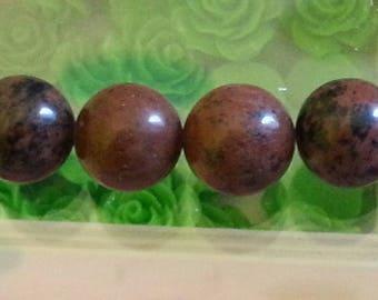 1 Pearl, red Jasper 14mm diameter, hole 1 mm