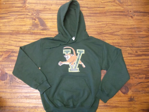 Vermont Hooded Sweatshirt on Forest Green Hoodie with Gold Arch - UVM University of Vermont Burlington Hoodie - Vermont Sweatshirt HBMWG3u