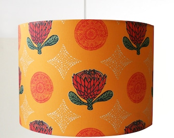 Golden Protea flower handmade ceiling lampshade in various sizes