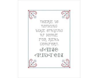PDF PATTERN: Jane Austen cross stitch digital download