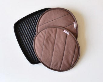 grilled hamburger patty potholders - fun gift potholders - grill barbecue kitchen potholders - gift for him - host gift - fathersday gift