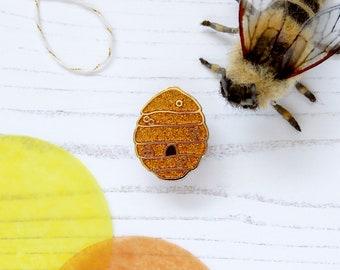 Bee Hive Enamel Pin