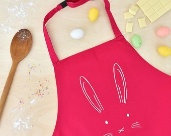 Easter apron etsy childrens easter bunny apron easter gift easter gift for kids easter gifts for negle Images