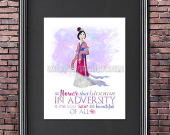 Mulan: The Flower That Blooms 8x10 Poster -- DIGITAL DOWNLOAD / Instant Download / Printable