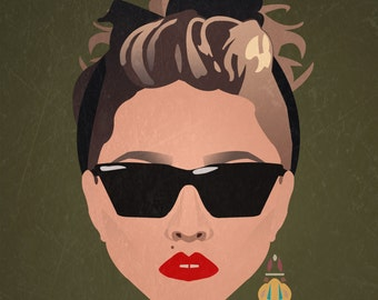 Minimalist Print inspired by Madonna from Desperately Seeking Susan