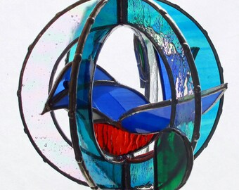 3D Stained Glass Bluebird