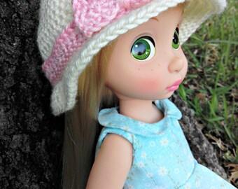 Crochet Cloche Hat for Disney Animator Dolls, Disney Animator Doll Clothes, Fall Autumn Hat, Winter Hat, Doll Clothes, 16 inch Doll Clothes