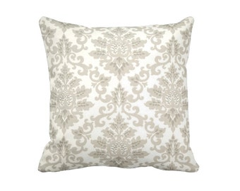 Taupe Throw Pillow Cover Taupe Pillow Cover Damask Pillow Cover  Decorative Pillows for Couch Brown Pillow Cover Taupe Cushion Cover
