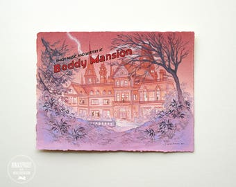 Mystery at Boddy Mansion - Original Painting