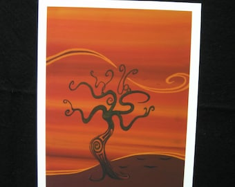 Fall Shuffle - Fine Art Print on Watercolour Paper