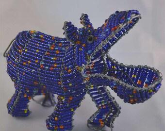 Wire Beaded Hippopotamus