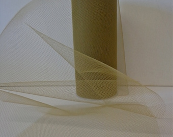 Antique Gold Tulle, 25 Yard Roll