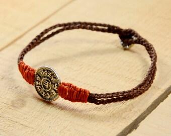 Men's Prosperity & Wealth King Solomon Amulet Charm Handwoven Bracelet