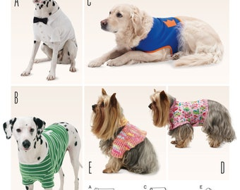 Burda Style Sewing Pattern 6753, Variety of Dog Coats, Large Dog Coats, New Uncut