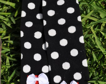 Black Dot Leg Warmers- customize available