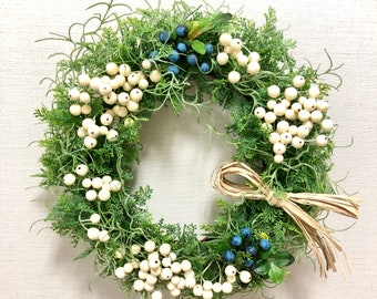 Artificial Berry Wreaths - Spring Wreaths - Spring Decor - Door Wreaths - Candle Ring - Housewarming Gift
