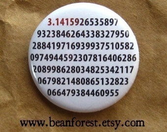 it's pi - math teacher - pinback button badge