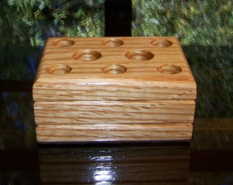 Vapor Stands Min-E Solid Oak Ecig Holder