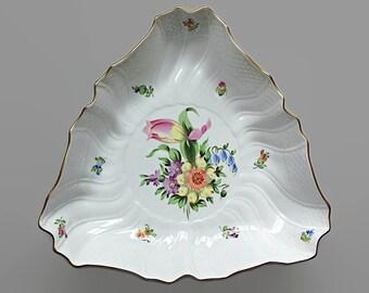 Fine China Serving Bowl / Herend Porcelain Serving Dish Vegetable Bowl