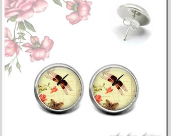 Stud Earrings 5 Colors to choose Dragonfly 2 OSH-012-405