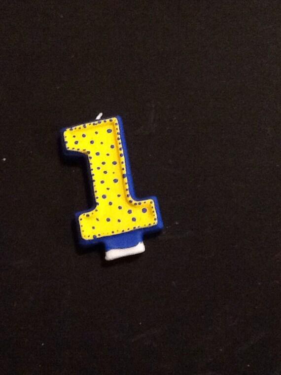 Blau Und Gelb Geburtstag Kerze Diener Partei Dekoration