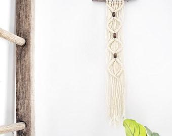 Mini Macrame on with wood beads