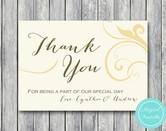 Floral Custom Wedding Thank you cards, Thank you notes, Bridal Shower Thank you cards, Baby Shower favor cards WD51 WD05