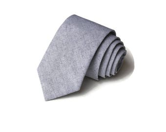 Gray Chambray Necktie~Anniversary Gift~Wedding Tie~Boys Necktie~Mens Necktie~Wedding~Mens Tie~Boys Tie~Gray Tie