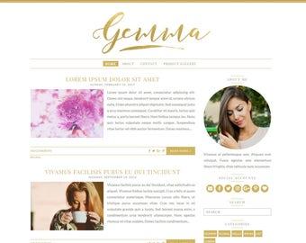 Gemma Responsive Blogger Theme - Premade Blogger Theme