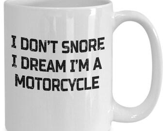 Funny motorcycle biker coffee mug