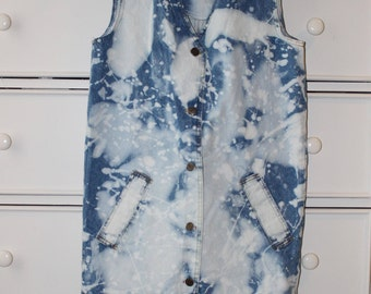 Bleach Dye Denim Dress