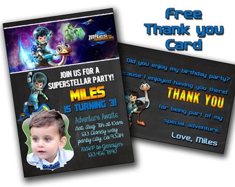 Miles from Tomorrowland Birthday Party Invitation,Miles From Tomorrowland Chalkboard Birthday Invite - Printable And Digital File