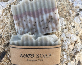 Rosemary Mint  -  Handmade Cold Processed Soap