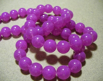 Jade Glass Beads Orchid  Round 10MM