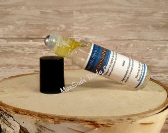 Stress Relief Essential Oil Blend Roll-On Bottle