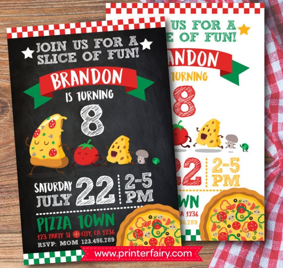Pizza party invitation pizza birthday invitation little chef pizza party invitation pizza birthday invitation little chef invitation cooking party invitations digital 2 options stopboris Image collections
