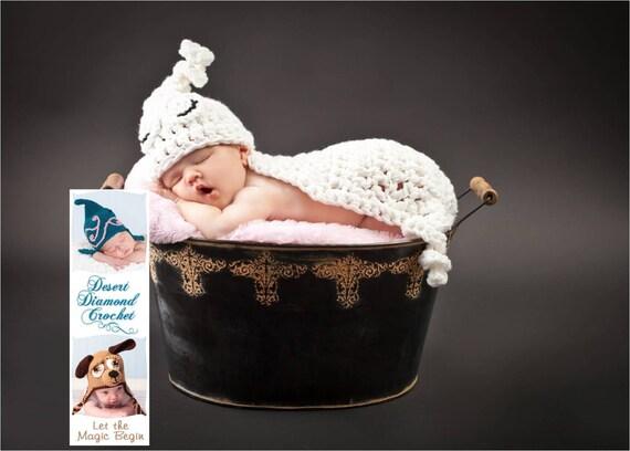 Ghost Cuddle Critter Cape - Halloween Newborn Photography Prop