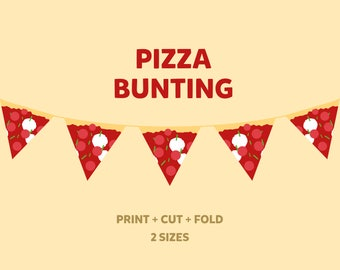 Pizza Bunting, Printable Party Garland
