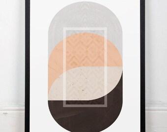 Mid century modern, Scandinavian art, Minimalist art, Circles poster, Marble, Wall print, Wall art, Home decor, Modern prints, Nordic art
