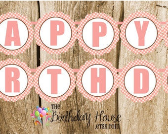 Farm Friends Party - Custom Pig Happy Birthday Banner by The Birthday House