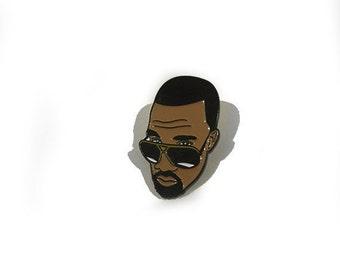 "Kanye west lapel pin 1"""