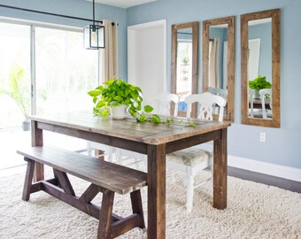 Farmhouse Dining Table, Rustic Dining Table, Wood Farmhouse Dining Table