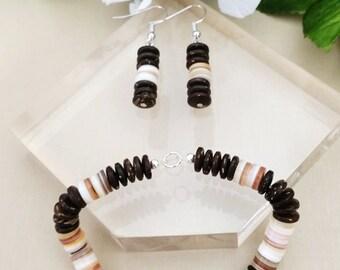 Coconut Shell Bracelet Set