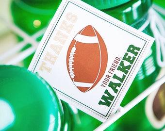 PRINTABLE Football Party Gift #Tags - #DIY / #DIGITAL File