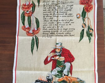 Vintage Damper-Bread of the Bush Tea Towel